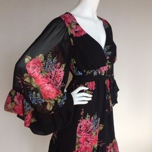 Betsey Johnson Bell Sleeve Dress